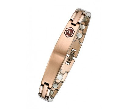 Rose gold Magnetic medical ID Bracelet
