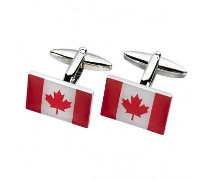 CANADIAN FLAG CUFFLINK