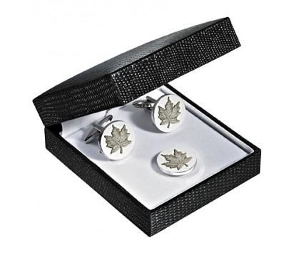 Maple Leaf Cufflink/ Pin Set