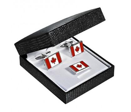 Canadian Flag Cufflink/ Pin