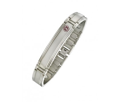 TITANIUM MEDICAL ID BRACELET