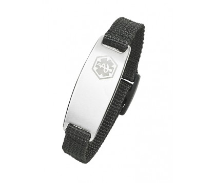 VELCRO WITH STEEL MEDICAL ID BRACELET