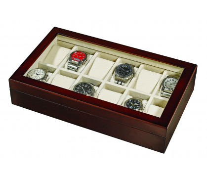 WOODEN WATCH GIFT BOX FOR 12 WATCHES